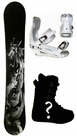 157cm  Cisco Slayer  Mens Snowboard Package, U Build It