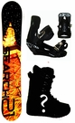157cm  Search 21 Nite  Mens Snowboard Package, U Build It