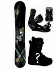 159cm  Black Fire Gothic  Mens Snowboard Package, U Build It