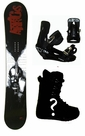 159cm Wide Airtracks Psycho Mens  Snowboard Package, U Build It