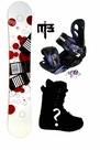 160cm  Dub Orbital  Mens Snowboard Package, U Build It