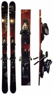 185cm Rossignol Lord Used Skis with Salomon Z12 Bindings Package