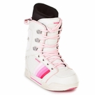 Cycab Roxi White Pink Girls Snowboard Boots Sizes 3.5 4 4.5 5