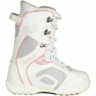Lamar Force Snowboard Boots Girls 4 White gray
