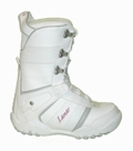 Lamar Justice Girls Lace  Snowboard Boots Size 4 White-Gray