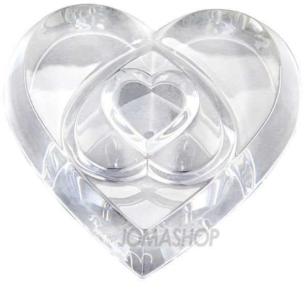Baccarat Heart Of Love Clear Paperweight 2106263