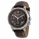 Baume and Mercier Capeland Chronograph Brown Dial Brown Leather Mens Watch M0A10043