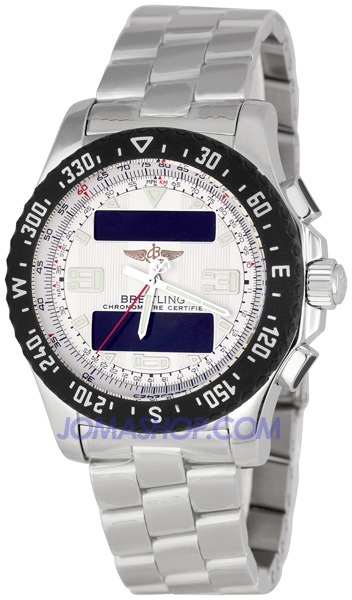 breitling airwolf silver s analog digital