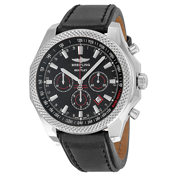 breitling bentley barnato black dial black leather automatic men 39 s. Cars Review. Best American Auto & Cars Review