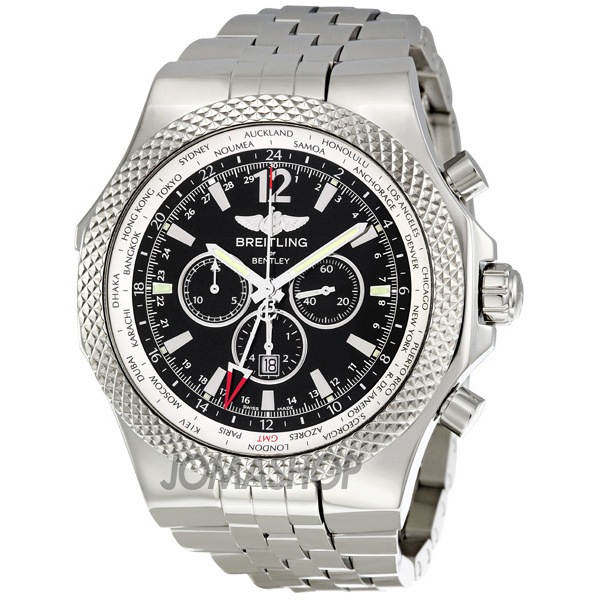 breitling bentley gmt chronograph black dial automatic men 39 s watch. Cars Review. Best American Auto & Cars Review