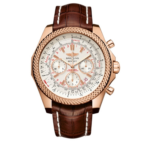 Breitling Bentley Motors Silver Dial Chronograph Rose Gold