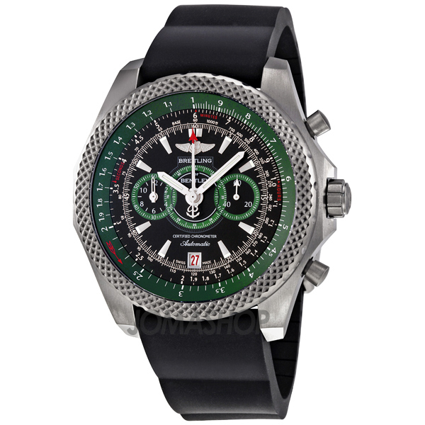 Breitling For Bentley Rubber Strap: Breitling Bentley Supersports Automatic Black Rubber Men's