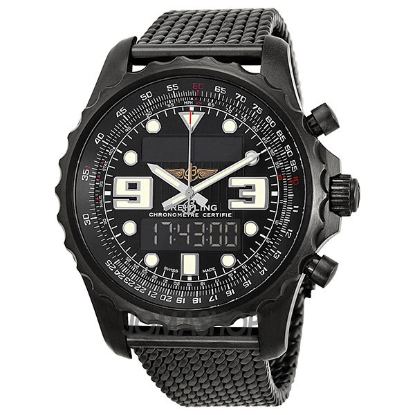 breitling chronospace blacksteel analog digital multi