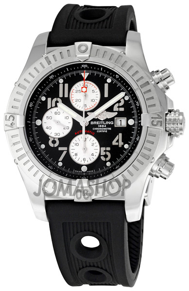 Breitling Super Avenger Volcano Black Dial Chronograph Mens Watch A1337011-B973BKRD