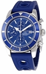 Breitling SuperOcean Heritage Blue Dial Chronograph Mens Watch A1332016-C758BLOR