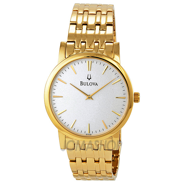 bulova gold tone s dress 97a102 jomashop