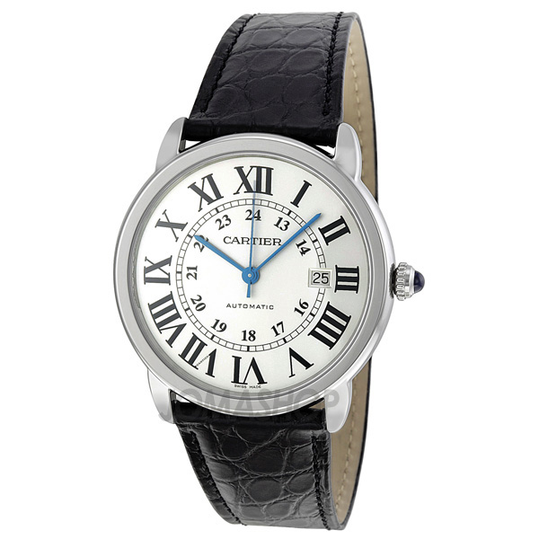 cartier ronde silver automatic s