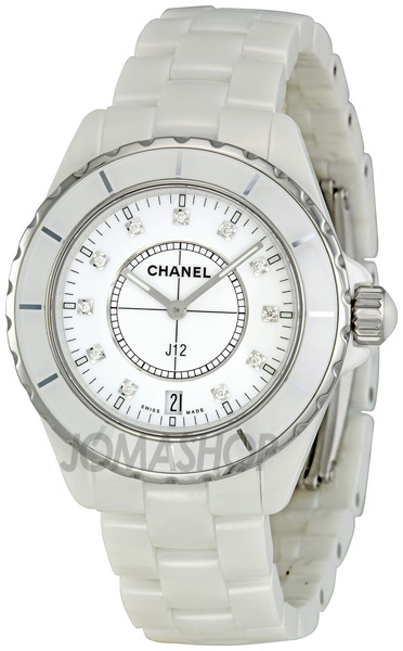 Chanel J12 White Ceramic Diamond Watch H2125