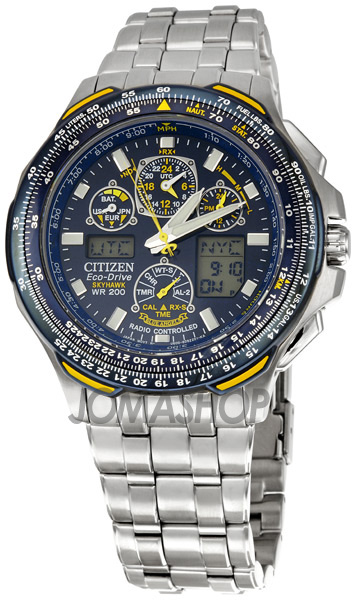Citizen Blue Angels Skyhawk A-T Eco Drive Mens Watch JY0040-59L-奢品汇 | 海淘手表 | 腕表资讯