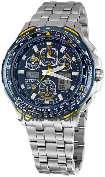 Citizen Blue Angels Skyhawk A T Men S Titanium Watch