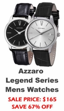 Azzaro Legend  Leather Mens Watches