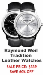 Raymond Weil Tradition Leather Mens Watches