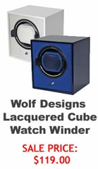 Wolf Designs Lacquered Cube Watch Winder Deal