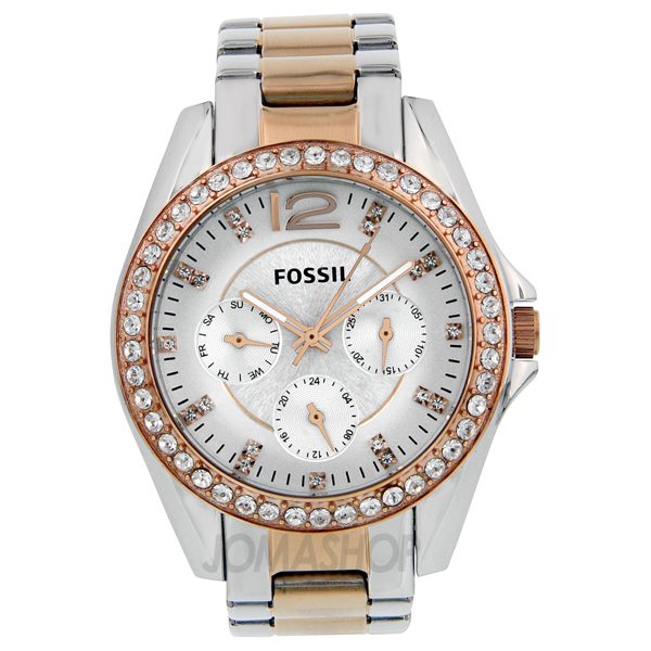 fossil multi function two tone es2787