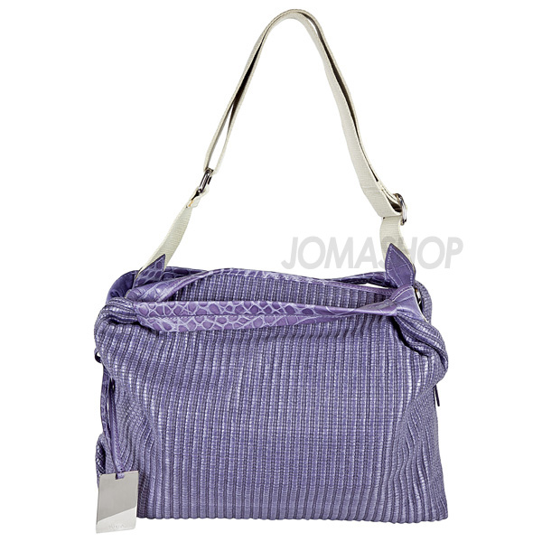 Furla Purple Basket Woven Shoulder Bag 169263-B0B781Z