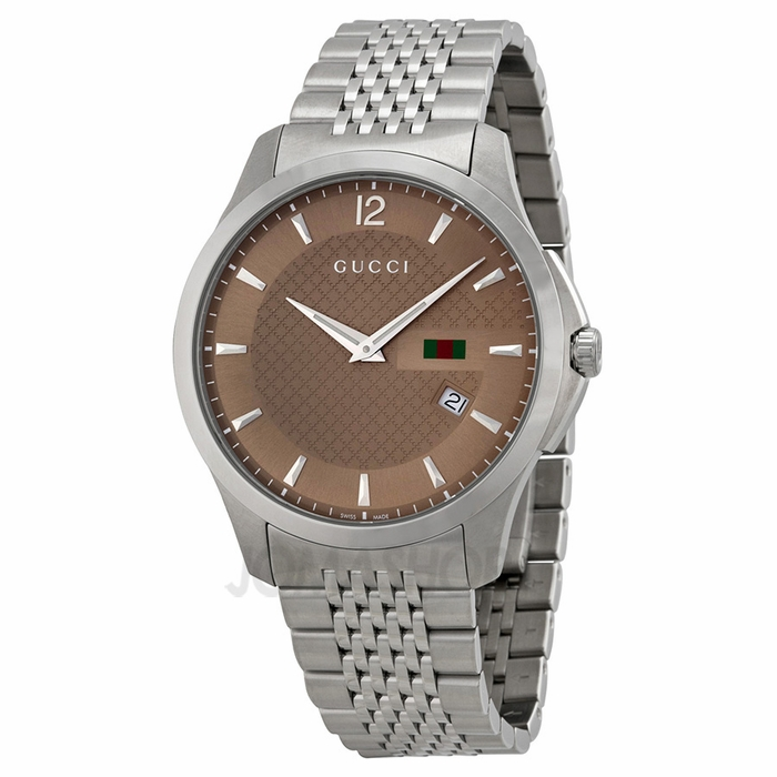 gucci g timeless brown stainless steel s