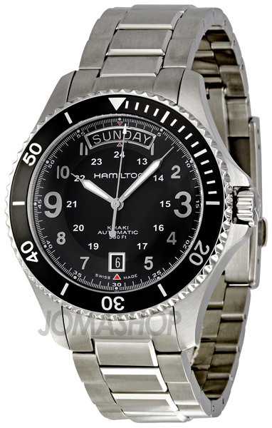 Hamilton Khaki King Scuba Black Dial Gmt Automatic Men S