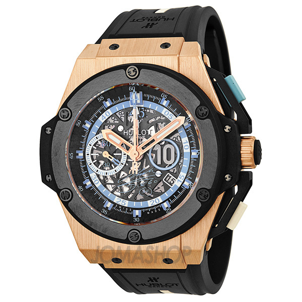 hublot king power maradona skeleton automatic s