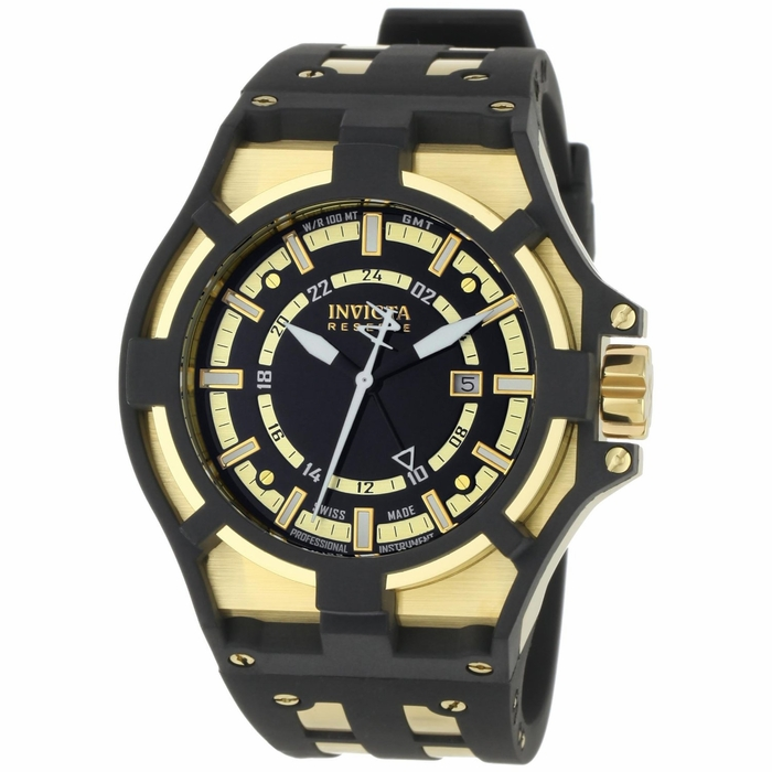 invicta reserve collection akula gmt black and gold
