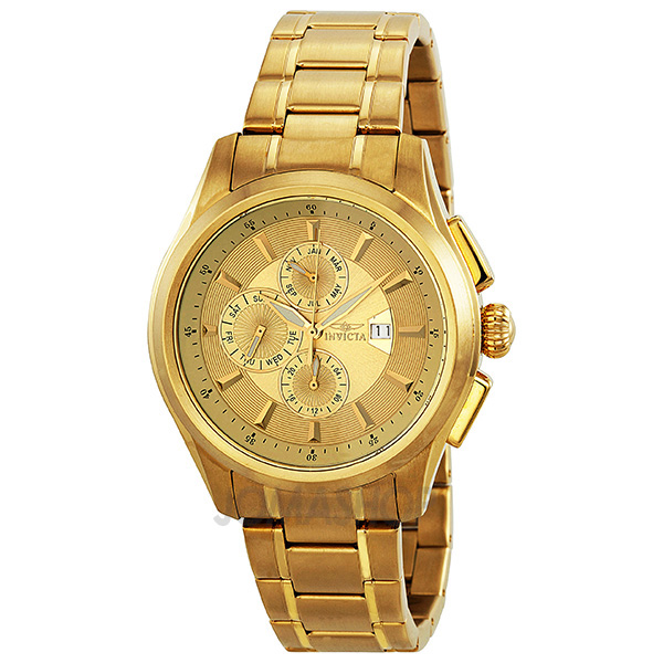 mens invicta watches gold
