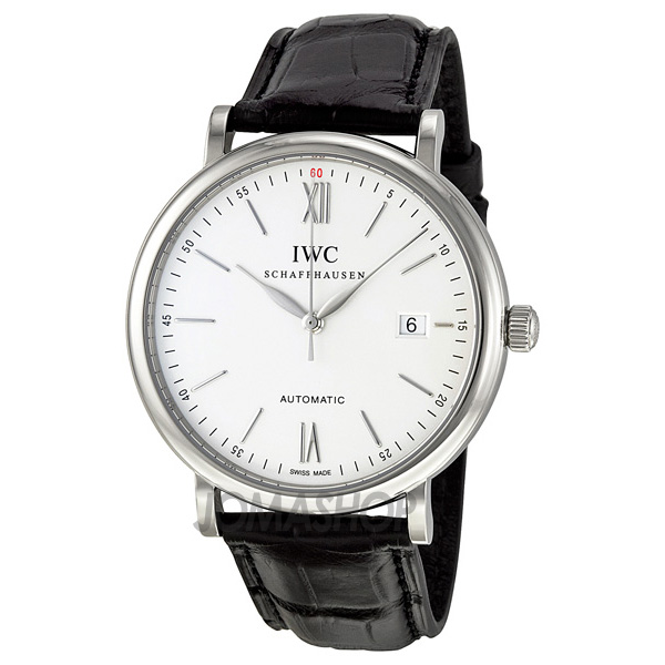 Jomashop万国促销汇总:IWC Portofino Silver Dial Black Leather Strap Automatic Mens Watch 3565-01-奢品汇 | 海淘手表 | 腕表资讯