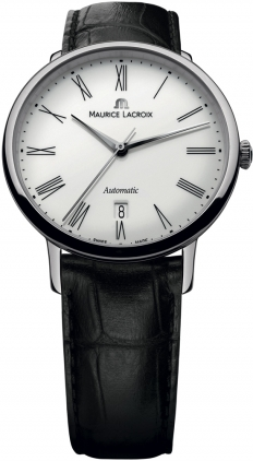 Maurice Lacroix Les Classiques Tradition Automatic White Dial Black Leather Strap Mens Watch LC6067-SS001-110-奢品汇 | 海淘手表 | 腕表资讯