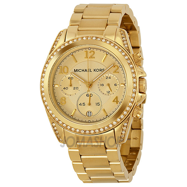 Michael kors women's mini darci rose gold-tone red dial watch.