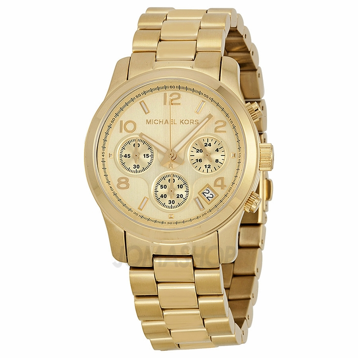 michael kors midsized chronograph gold tone unisex