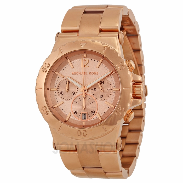Rose Gold Watch Michael Kors Chronograph Michael Kors Rose Gold Dial