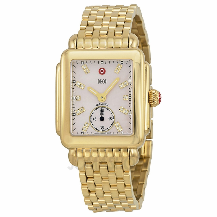 michele deco of pearl gold plated