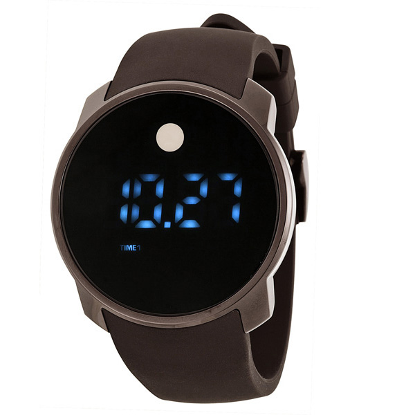 movado bold touch screen digital dual time unisex