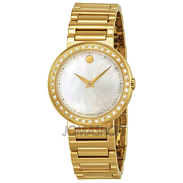 movado concerto of pearl gold plated