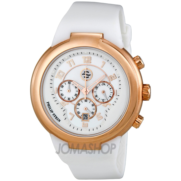 philip stein active chronograph gold tone 32