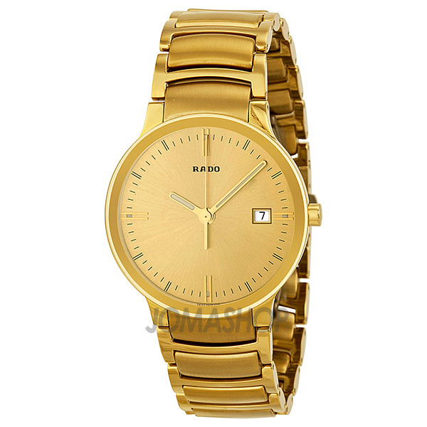 rado centrix gold yellow gold plated stainless steel