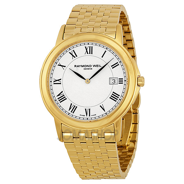 raymond weil tradition white yellow gold pvd