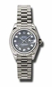 Rolex Datejust Black Mother of Pearl Dial Automatic White Gold Ladies  Watch 179179BKMDP
