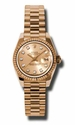 Rolex Datejust II  Champagne Diamond Dial Automatic 18kt Pink Gold Ladies  Watch 179175CDP