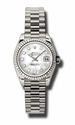 Rolex Datejust Mother of Pearl Dial Automatic White Gold Ladies  Watch 179179MDP