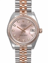 Rolex Datejust Rose Diamond Dial Jubilee Bracelet Two Tone Unisex Watch 178271RDJ