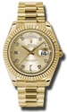 Rolex Day-date II Champagne Automatic 18kt Yellow Gold Mens Watch 218238CDP